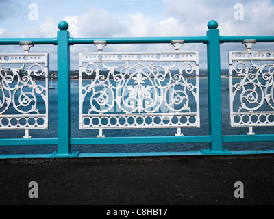 Details of the pier at Mumbles,Swansea Bay,South Wales.UK. - Stock Photo
