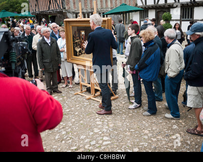 Filming the BBC television program The Antique Roadshow at the Singleton open air museum,Chichester West sussex - Stock Photo