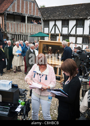 Filming the BBC television program The Antique Roadshow at the Weald and Downland open air museum,Chichester West - Stock Photo