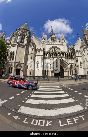 Royal Courts of Justice, City of London, England, UK, United Kingdom, GB, Great Britain, British Isles, Europe - Stock Photo