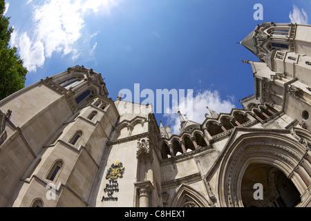 Royal Courts of Justice, City of London, England, UK, United Kingdom, GB, Great Britain, British Isles, Europe - Stock Photo