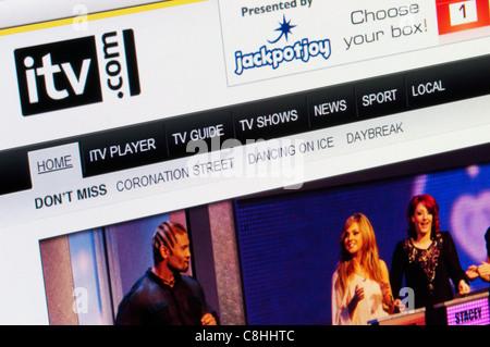 ITV website. - Stock Photo
