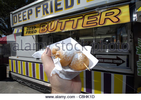 Deep fried butter at the Florida State Fair. - Stock Photo