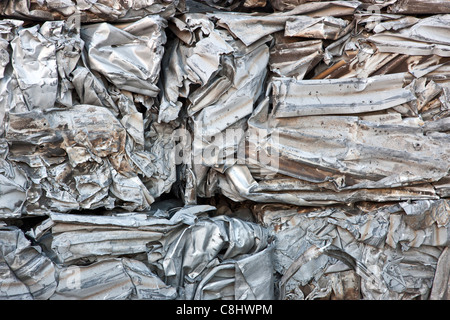 Pile Of Aluminum Scrap For Recycle Stock Photo 66104142