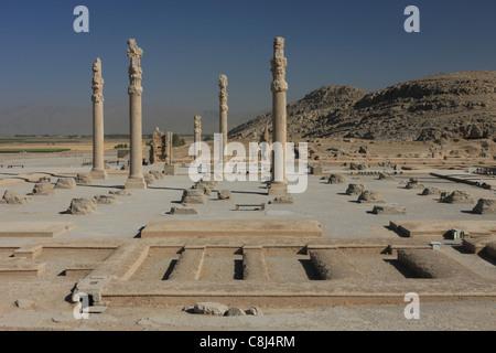 Persepolis, Persia, Iran, Islamic Republic of Iran, Central Asia, West Asia, Fars, Ernst Herzfeld, archaeological - Stock Photo