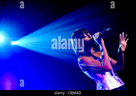 Alexandra Burke performes at G-A-Y, London, 17th October 2009. - Stock Photo