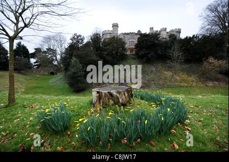 Devizes Castle in Wiltshire UK - Stock Photo