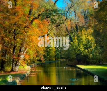DE - BAVARIA: Autumn in park of Nymphenburg Palace, Munich - Stock Photo