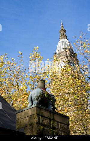 The Albert Halls also known as Bolton Town Hall, Victoria Square, Bolton, Lancashire, UK - Stock Photo