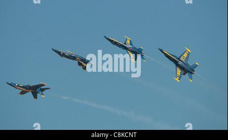 Blue Angels Display Team US Navy - Stock Photo