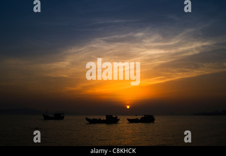 Sunset over the south China sea. - Stock Photo