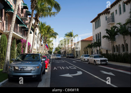 Worth Avenue, Palm Beach, Florida - Stock Photo