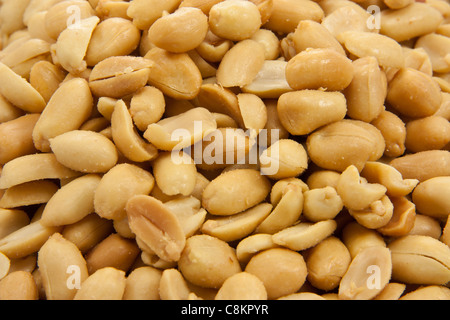 Close up picture of a bunch of peanuts - Stock Photo