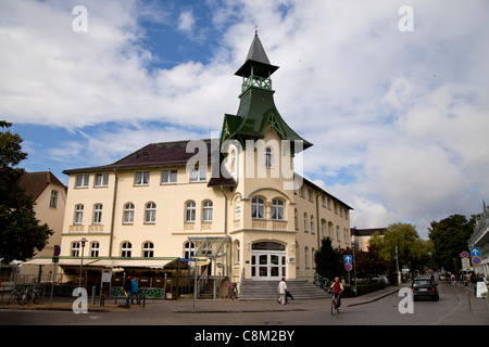 special historist style Architecture Baederarchitektur of Hotel Duenen Schloss in the seaside resort Zinnowitz, - Stock Photo