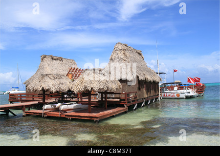 Ramon's Village Dive Centre, San Pedro, Ambergris Caye (aka La Isla Bonita), Barrier Reef, Belize, Caribbean, Central - Stock Photo