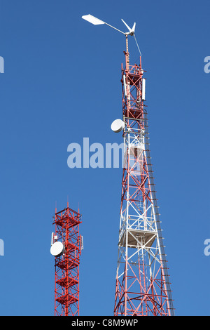 Telecommunication towers - Stock Photo