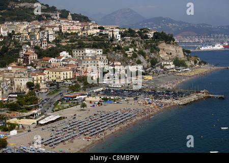 VIETRI SUL MARE & BEACH MARINA DI VIETRI ITALY 18 September 2011 - Stock Photo