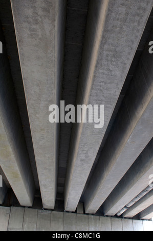 Underneath of M42 flyover, Pooley Country Park, Warwickshire, UK - Stock Photo