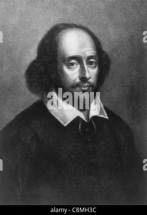 William Shakespeare, English poet and playwright. - Stock Photo