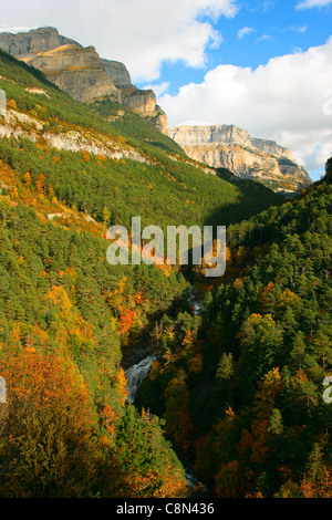 Ordesa National Park in Autumn. Huesca Province. Aragón. Pyrenees. Spain - Stock Photo