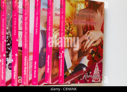 A selection of Mills & Boon paperback romantic novels and historical
