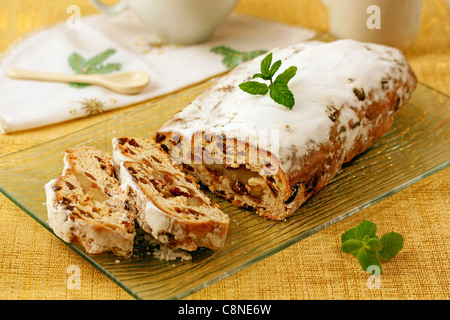 Marzipan with fruits. Recipe available. - Stock Photo