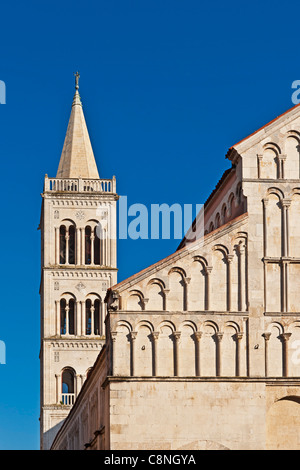Saint Anastasia Cathedral is the biggest cathedral in Dalmatia, Zadar, Dalmatia, Croatia, Europe - Stock Photo