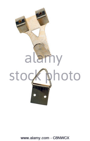 background black bolt close-up equipment fastening group hammer heap hook iron isolated macro metal objects screw - Stock Photo