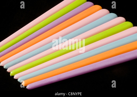 Plastic hair pins in studio setting - Stock Photo