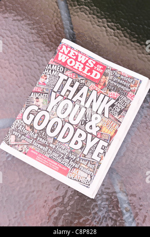 The very last edition of The News Of The World newspaper dated July 10th 2011 - Stock Photo