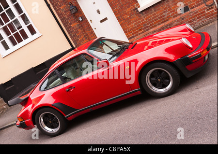 A Porsche 911 turbo classic car in Lavenham , Suffolk , England , Britain , Uk - Stock Photo