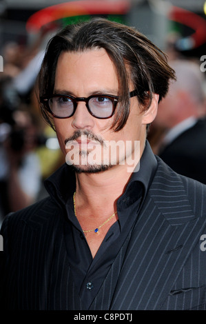 Johnny Depp attends the UK Premiere of 'Public Enemies' at Leicester Square, London, 29th June 2009. - Stock Photo