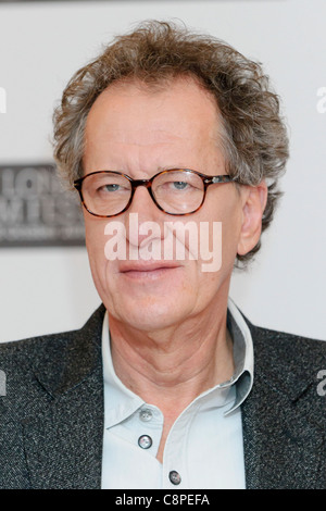 Geoffrey Rush attends the King's Speech photocall, at VUE, London, 21st October 2010. - Stock Photo