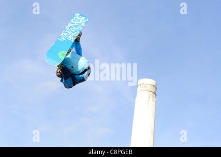 London, UK, 29/10/11 Relentless Freeze Festival, Battersea Power Station, LG Snowboard FIS World Cup 2012 Heat 1, - Stock Photo