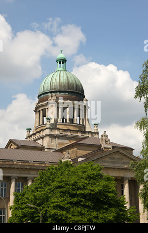View of the 'Oberlandesgericht', the Higher Regional Court, in Hamburg, Germany - Stock Photo