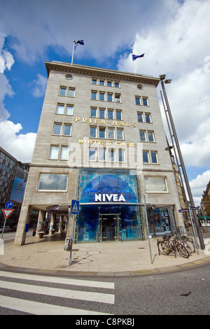 View of the 'Nivea-Haus' in Hamburg, Germany. - Stock Photo