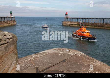 RNLI lifeboat 'George & Mary Webb'  Whitby, North Yorkshire, England, U.K. - Stock Photo