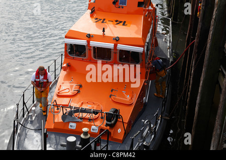 RNLI lifeboat 'George & Mary Webb' being refuelled in Whitby, North Yorkshire, England, U.K. - Stock Photo