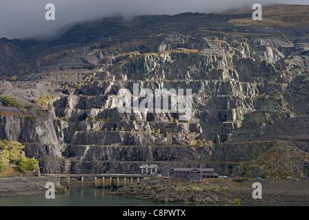 Great Britain, Wales, Snowdonia, near Llanberis, Dinorwic Quarry - Stock Photo