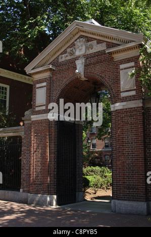 Harvard University. Partial view. Cambridge. Massachusetts. United States. - Stock Photo