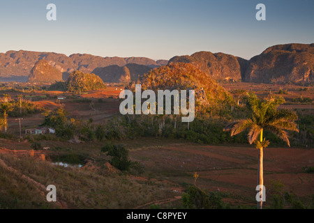 PINAR DEL RIO; VINALES VALLEY AND MOGOTES IN THE VINALES NATIONAL PARK - Stock Photo