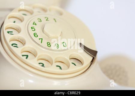 Old rotary phones - Stock Photo