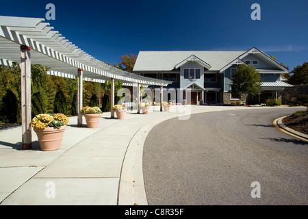 Visitor's Center at the North Carolina Arboretum - Asheville, North Carolina USA - Stock Photo