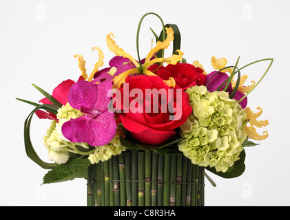 Beautiful Hydrangea Flowers In A Vase On A Table Bouquet Of Light