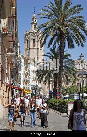 Plaza de Reina, Cathedral, Valencia, Spain - Stock Photo