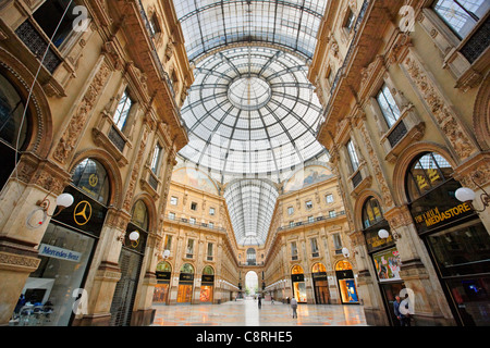 Vittorio Emanuele II Gallery. Milan, Italy. - Stock Photo
