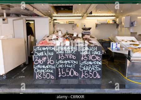 Littlehampton Fish Seller - Stock Photo