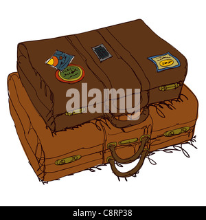 Vintage Suitcase - Stock Photo