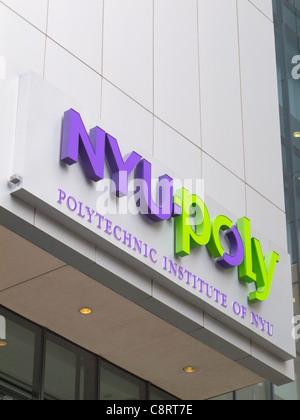 Polytechnic Institute of New York University in Brooklyn NY - Stock Photo