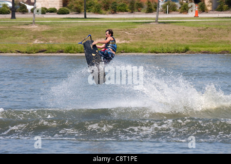 Wake board demonstration - Stock Photo